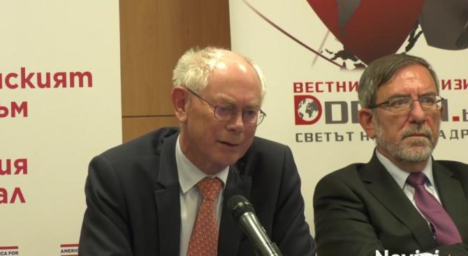 Херман ван Ромпой: В България има мир, просперитет и демокрация