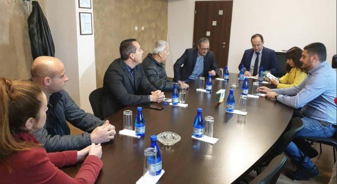 Кандидатите за евродепутати Андрей Ковачев, Лиляна Павлова и Емил Радев