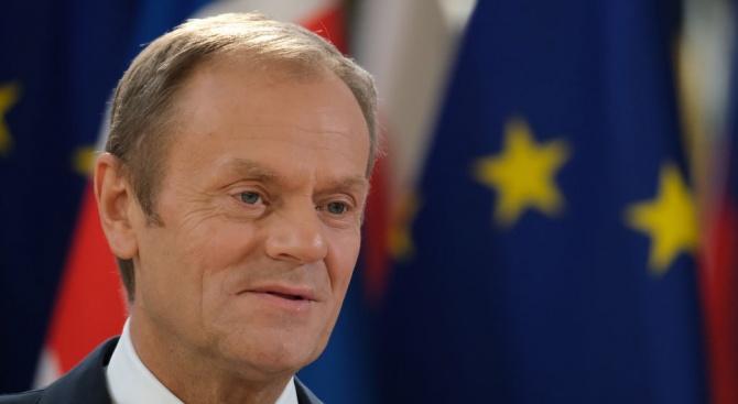 Председателят на Европейския съвет Доналд Туск заяви днес, че върховенството