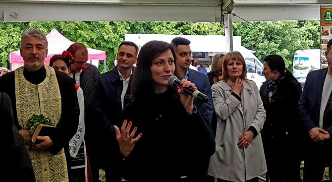 Водачът на листата на ГЕРБ за европейския вот Мария Габриел