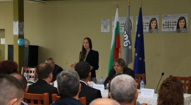 Ева Майдел пред бизнеса в Свищов: Всеки глас за ГЕРБ е глас в полза на развитието на бизнеса и работните места