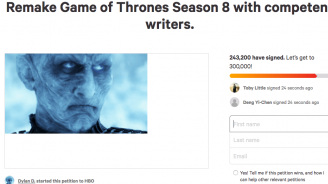 """Петиция иска презаснемане на """"Игра на тронове"""""""