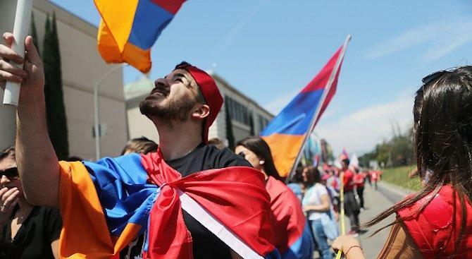 Демонстранти блокираха днес входовете на съдилища в арменската столица Ереван