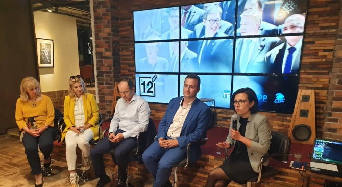 Кандидатите за евродепутати от ГЕРБ Андрей Ковачев и Жечо Станков