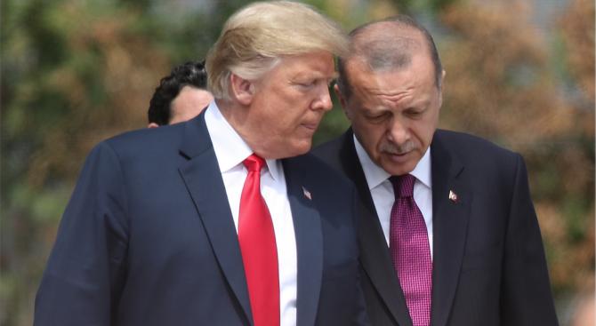 Турският президент Реджеп Тайип Ердоган и президентът на Съединените щати