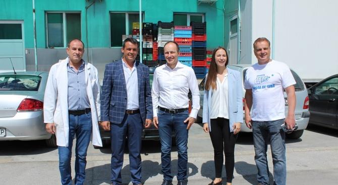 Кандидатите за евродепутати от ГЕРБ Андрей Ковачев и Ева Майдел