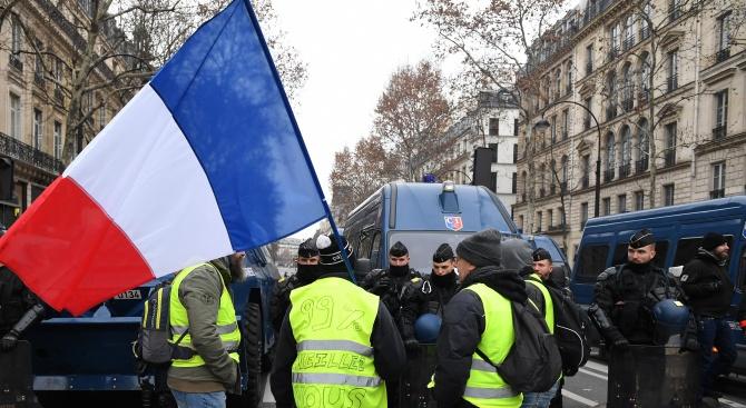 Сравнително спокойно преминава във Франция 28-та поредна събота на протести