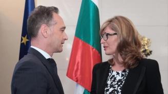 Екатерина Захариева се среща с германския външен министър