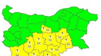 Жълт код за валежи в 10 области