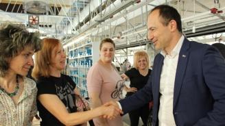 Андрей Ковачев се срещна с колектива на голяма шивашка фирма в Пловдив