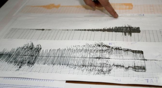 Земетресение с магнитуд 4,6 по Рихтер е регистрирано в 8.27