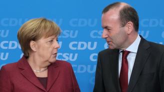 Меркел отново потвърди подкрепата си за Вебер за шеф на ЕК