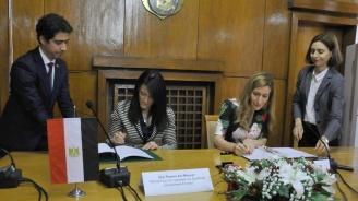 Ангелковаи министърът на туризмана Египет подписаха меморандумза разбирателство