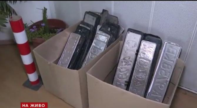 Пловдивският КАТ събра стотици регистрационни табели на автомобили след голямото