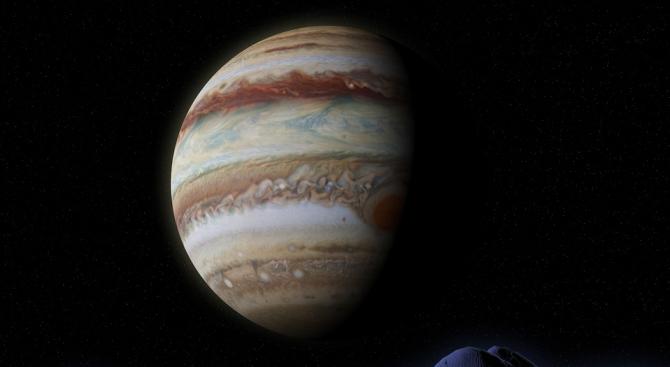 Юпитер и четири от луните ѝ ще се виждат без телескоп през юни