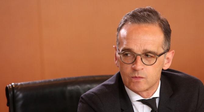 Германският министър на външните работи Хайко Маас подкрепи днес от