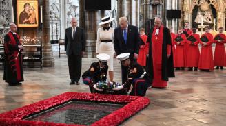 Тръмп се поклони пред Гроба на незнайния воин в Уестминстърското абатство