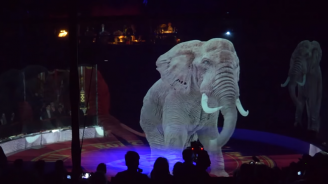Германски цирк използва холограми вместо истински животни