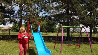 Модерна детска площадка с беседка и битов кът обновиха центъра на село Островче