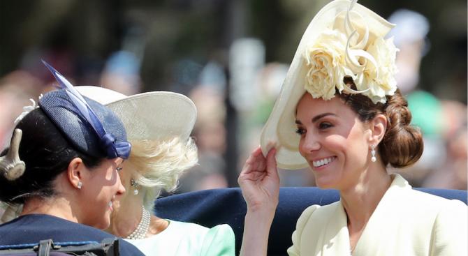 Херцогинята на Кембридж Катрин и херцогинята на Съсекс Меган, на