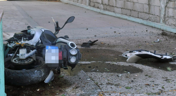 Катастрофа край Велико Търново: Мотоциклетист е пострадал