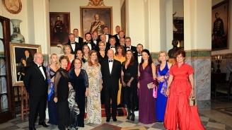 """Принц Шарл-Филип Мари Луи Орлеански и принцеса Диана Орлеанска бяха гости на цар Симеон II в двореца """"Врана"""""""