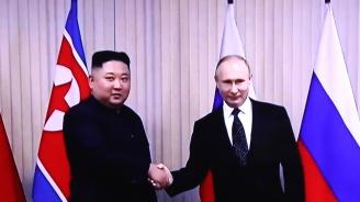 Ким Чен-ун към Владимир Путин: Радваме се на успехите ви