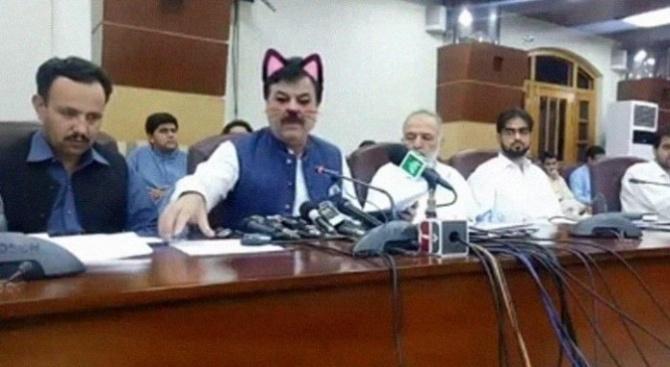 Редово излъчване на живо от пресконференция на правителството на пакистанската