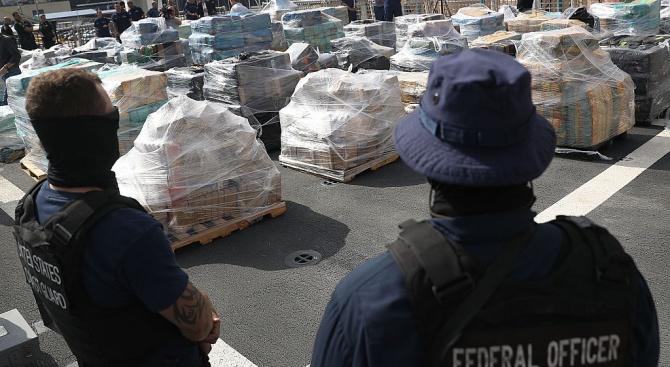 Властите на САЩ заловиха 16,5 тона кокаин на стойност над