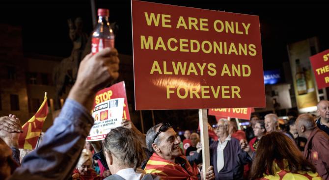 Министърът на външните работи на Македония Никола Димитров в предаването