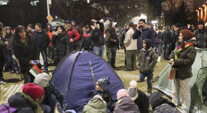 """На нов протест излязоха представители на гражданската група """"Бетономорие"""", съобщиха"""