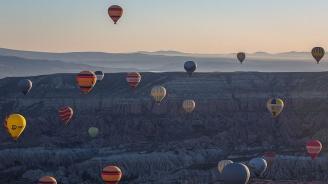 Кападокия за пръв път е домакин на Международния фестивал на балоните с горещ въздух