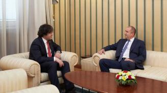 Енергийната, транспортна и дигитална свързаност в Черноморския регион обсъдиха президентът Румен Радев и председателят на парламента на Грузия Иракли Кобахидзе
