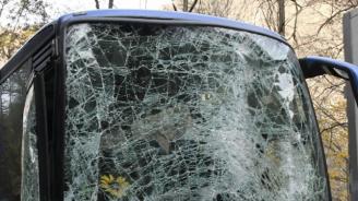 """Автобус катастрофира на магистрала """"Тракия"""", има ранени"""