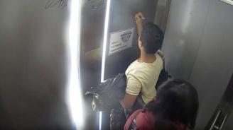 Тийнейджър системно драска в асансьора на пасарелка в бургаски квартал