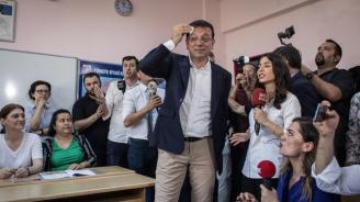Първи данни от изборите за кмет на Истанбул - кандидатът на опозицията Екрем Имамоглу печели с 53,76%