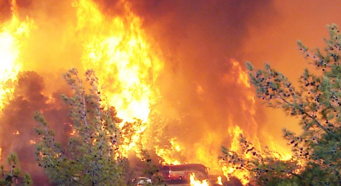 Катастрофа на два изтребителя предизвика пожар в източната германска провинция