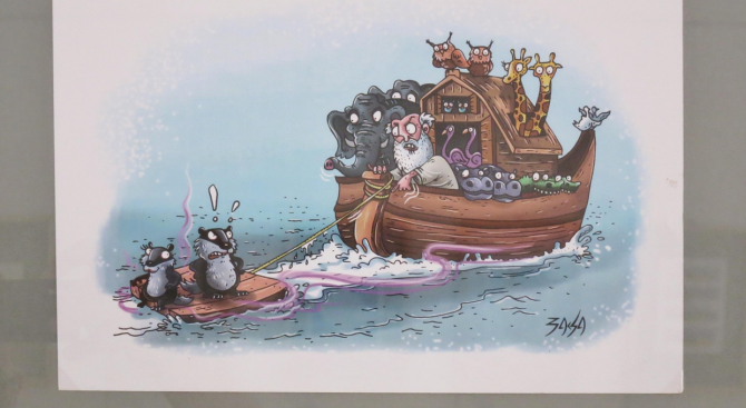 """Във Военноморския музей откриха изложбата """"Морски карикатури"""". Тя показва творби"""