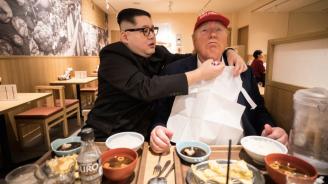 Двойниците на Ким Чен-ун и Доналд Тръмп вече са в Осака