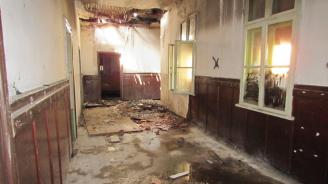 Пожар горя в сградата на бивше училище край Русе
