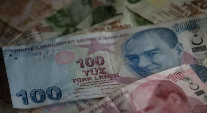 Турската лира поскъпна днес с около 2,8 процента до най-силното