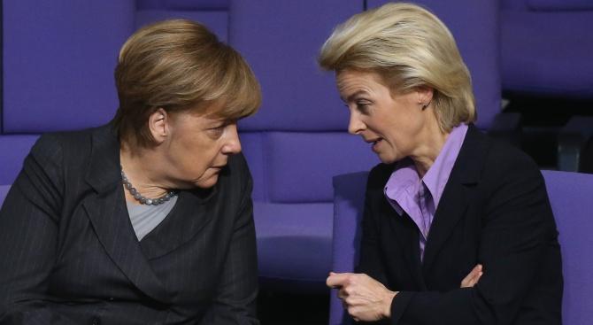 Германският министър на отбраната Урсула фон дер Лайен е разглеждана
