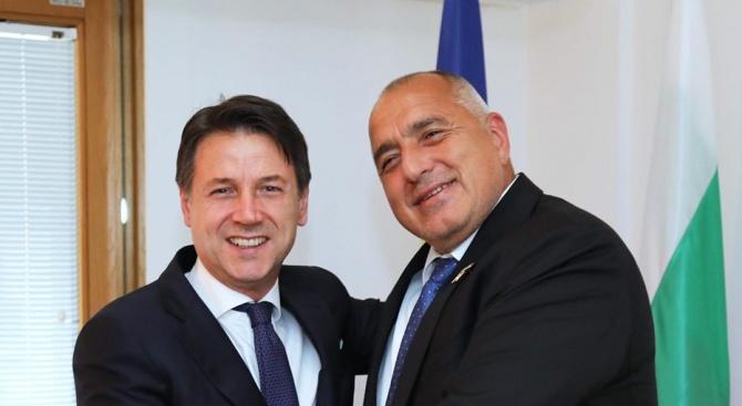 Проведох двустранна среща и с премиера на Италия Джузепе Конте.