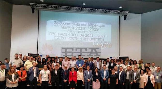 Кметът на Община Банско Георги Икономов и колегите му Асен