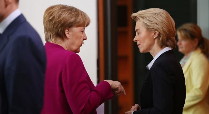 Меркел разкри защо не е подкрепила с гласа си сънародничката си Урсула фон дер Лайен