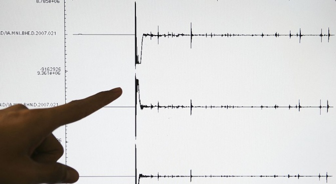 Земетресение с магнитуд 5,2 е било регистрирано тази нощ край