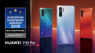 """Huawei спечели награда за """"Най-добър смартфон"""" на European Hardware Awards 2019"""
