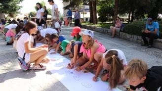 С 30-метрова рисунка децата от Банско отбелязаха Международния ден без найлонови торбички