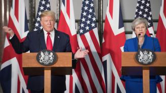 Тръмп и Мей обсъдиха как да бъде запазен натискът върху Иран