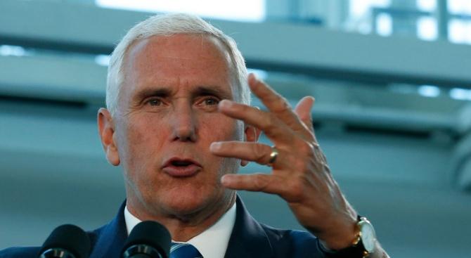 Американският вицепрезидент Майк Пенс заяви днес, че САЩ са отворени
